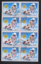 Poštovní známky Paraguay 1988 Franck Piccard, blok Mi# 4264