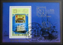 Poštovní známka KLDR 1984 Lodì Mi# Block 179