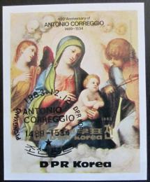 Poštovní známka KLDR 1983 Umìní, Correggio Mi# Block 164