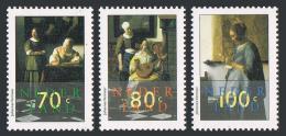 Poštovní známky Nizozemí 1996 Umìní, Vermeer Mi# 1563-65