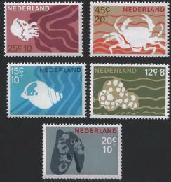Poštovní známky Nizozemí 1967 Moøská fauna Mi# 873-77