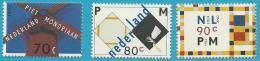Poštovní známky Nizozemí 1994 Umìní, Piet Mondrian Mi# 1498-1500