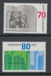 Poštovní známky Nizozemí 1991 Veøejné knihovny, 100. výroèí Mi# 1421-22