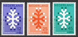 Poštovní známky Nizozemí 1969 Boj proti rakovinì Mi# 923-25