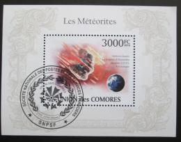 Poštovní známka Komory 2009 Meteority Mi# Block 560 Kat 15€