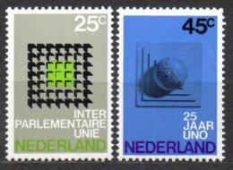 Poštovní známky Nizozemí 1970 Konference meziparlamentní unie Mi# 946-47