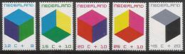 Poštovní známky Nizozemí 1970 Barevné kostky Mi# 951-55