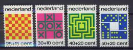 Poštovní známky Nizozemí 1973 Spoleèenské hry Mi# 1019-22
