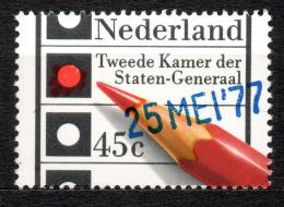 Poštovní známka Nizozemí 1977 Parlamentní volby, pøetisk Mi# 1096