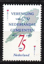 Poštovní známka Nizozemí 1987 Mapa Mi# 1326