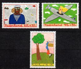 Poštovní známky Nizozemí 1987 Dìti a zamìstnání Mi# 1328-30