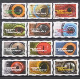 Poštovní známky Francie 2015 Zvíøecí oèi Mi# 6178-89 Kat 20€