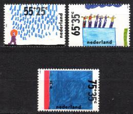 Poštovní známky Nizozemí 1988 Dìti a voda Mi# 1353-55