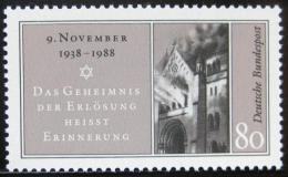 Poštovní známka Nìmecko 1988 1. nacistický pogrom Mi# 1389