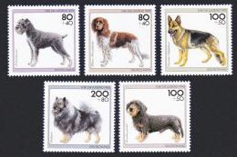 Poštovní známky Nìmecko 1995 Psi Mi# 1797-1801 Kat 9€