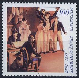 Poštovní známka Nìmecko 1997 Franz Schubert, skladatel Mi# 1895