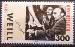 Poštovní známka Nìmecko 2000 Kurt Weill, skladatel Mi# 2100