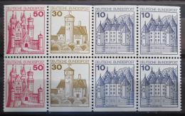 Poštovní známky Nìmecko 1977 Hrady a zámky, ze sešitku