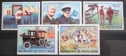 Poštovní známky Horní Volta 1975 Winston Churchill neperf. Mi# 545-49 B