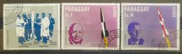 Poštovní známky Paraguay 1983 Prùzkum vesmíru Mi# 3604-06