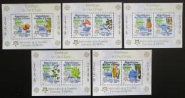 Poštovní známky Pobøeží Slonoviny 2005 Evropa CEPT, 50. výroèí Mi# Block 169-73 A Kat 50€
