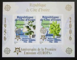 Poštovní známky Pobøeží Slonoviny 2005 Evropa CEPT, 50. výroèí, neperf. Mi# Block 170 B Kat 16€