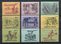 Poštovní známky Maïarsko 1965 Dìjiny tenisu Mi# 2127-35