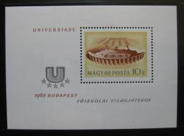 Poštovní známka Maïarsko 1965 Stadión v Budapeš�i Mi# Block 50