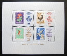 Poštovní známky Maïarsko 1965 Den známek Mi# Block 51