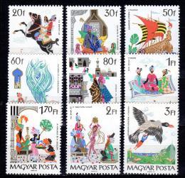 Poštovní známky Maïarsko 1965 Pohádky Mi# 2184-92
