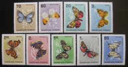 Poštovní známky Maïarsko 1966 Motýli Mi# 2201-09