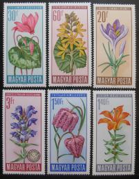 Poštovní známky Maïarsko 1966 Kvìtiny Mi# 2212-17