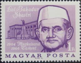 Poštovní známka Maïarsko 1966 Lal Bahadur Shastri, indický premiér Mi# 2211