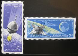 Poštovní známky Maïarsko 1966 Prùzkum vesmíru Mi# 2218-19