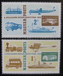 Poštovní známky Maïarsko 1966 Muzeum dopravy Mi# 2220-21