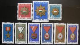 Poštovní známky Maïarsko 1966 Vyznamenání Mi# 2222-30