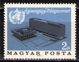Poštovní známka Maïarsko 1966 Ústøedí WHO Mi# 2237