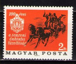 Poštovní známka Maïarsko 1966 Hasièská brigáda Mi# 2254