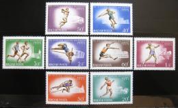 Poštovní známky Maïarsko 1966 ME v atletice Mi# 2262-69