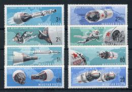Poštovní známky Maïarsko 1966 Prùzkum vesmíru Mi# 2299-2306