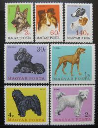 Poštovní známky Maïarsko 1967 Psi Mi# 2337-43