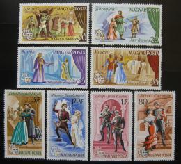 Poštovní známky Maïarsko 1967 Scény z oper Mi# 2355-62