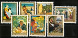 Poštovní známky Maïarsko 1967 Umìní Mi# 2370-76