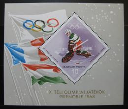 Poštovní známka Maïarsko 1967 ZOH Grenoble Mi# Block 62