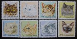 Poštovní známky Maïarsko 1968 Koèky Mi# 2387-94 Kat 8.50€