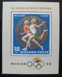 Poštovní známka Maïarsko 1968 LOH Mexiko Mi# Block 65
