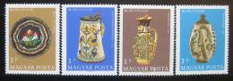 Poštovní známky Maïarsko 1968 Hrnèíøské výrobky Mi# 2443-46