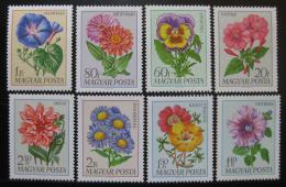 Poštovní známky Maïarsko 1968 Kvìtiny Mi# 2452-59