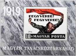Poštovní známka Maïarsko 1969 Revoluèní plakát Mi# Block 70