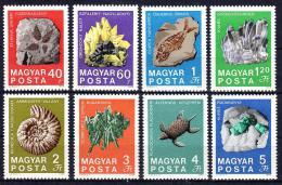 Poštovní známky Maïarsko 1969 Fosílie Mi# 2520-27